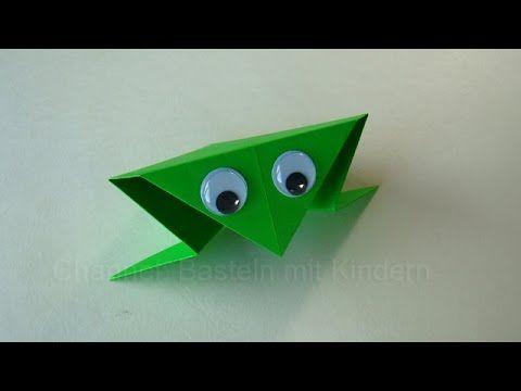 Origami Frosch falten: Basteln mit Kindern - Papier falten - Einfaches Origami - DIY, My Crafts and