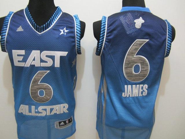 2012 All Star 06 JAMES Blue Jerseys $18.99
