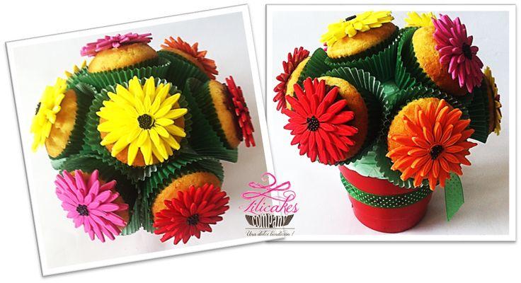 Gerberas - flowers - cupcakes