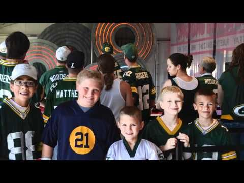NFL Opening Day 2011. Nick had a blast with his friends. My Packer boy!