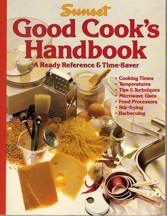 Sunset Good Cook's Handbook  A Ready Reference and by BunnysLuck, $6.00: Antiques Cooking, Cooking Handbook, Vintage Cooking, Cooking Books