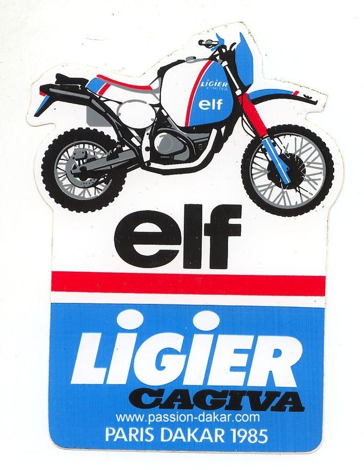 Autocollant LIGIER CAGIVA ELF DU 7 éme PARIS-ALGER-DAKAR 1985.jpg (792×1024)