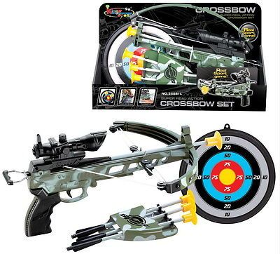 #British army crossbow set / cross bow #shooting game with target #arrows kids bo,  View more on the LINK: http://www.zeppy.io/product/gb/2/401024592178/