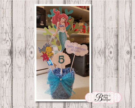 The Little Mermaid Centerpieces Little by BobbiesPartyBoutique