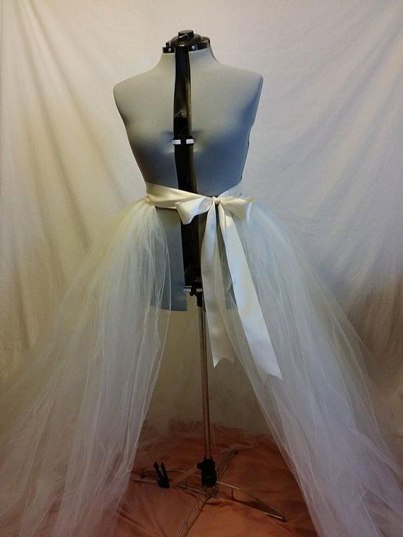 5 Foot Long Detachable Wedding Train by BBsBoutiqueShop on Etsy