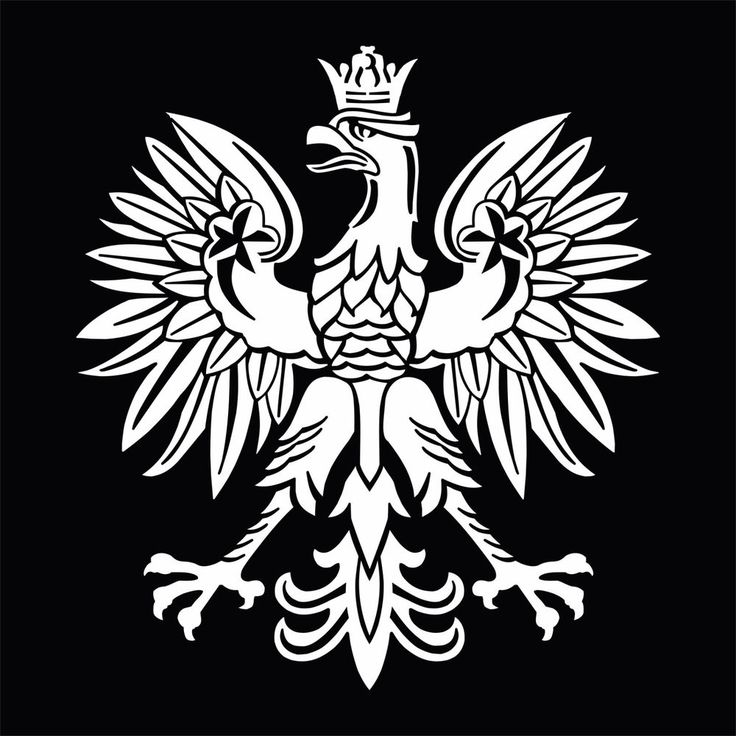 White Polish Eagle Symbol Emblem Coat Of Arms Vinyl Decal Sticker #Oracal