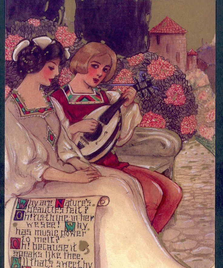 SCHMUCKER....MOTTOES,MOORE ROMANTIC POEM,LOVE, LTD ED POSTCARD FROM ORIGINAL ART | eBay