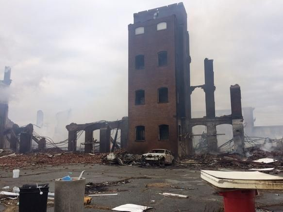 Photos: Weaver Street Mill Fire Aftermath   The Herald News, Fall River, MA