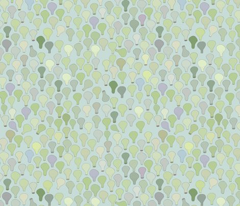 succulent leaves fabric by ex-m on Spoonflower - custom fabric