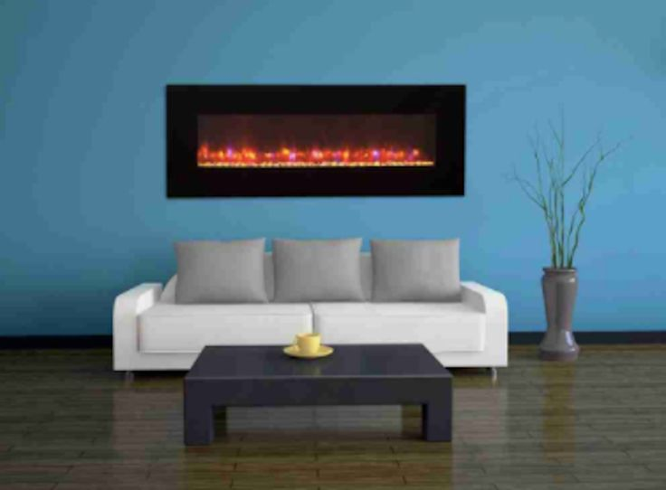 """Enjoy the ambience and comfort of a wall mount electric fireplace for your living room, kitchen, bedroom or entertainment room. It features LED light in 13 different colors and quiet heater fan designed for low energy consumption. Available 50"""" or 70"""". Free shipping."""