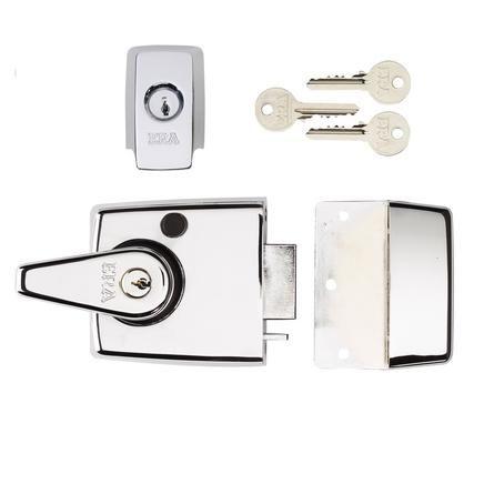 ERA BS Double locking nightlatch Chrome case & cylinder