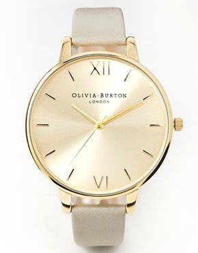 Olivia Burton Big Dial Grey & Gold Watch | ASOS