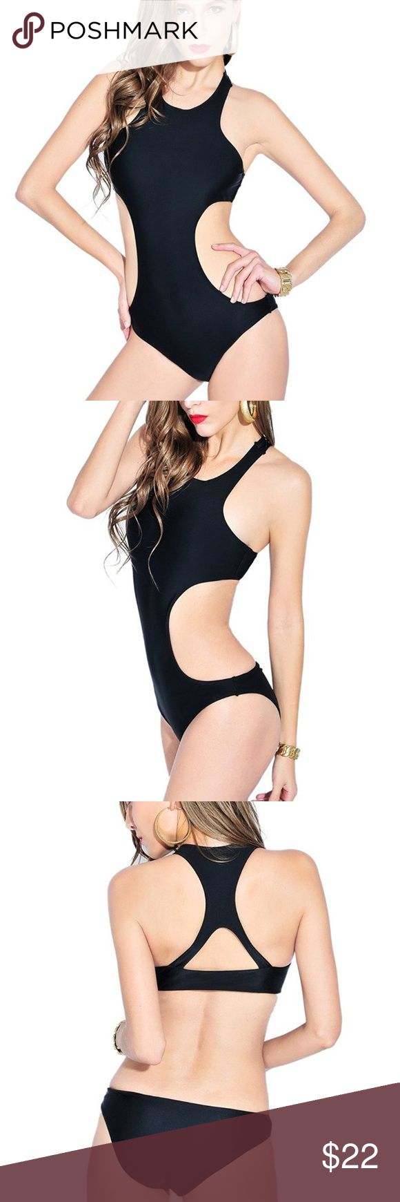 Brandman Womens Monokini CutOut One piece Swimsuit Brandman Womens Monokini CutOut One piece Swimsuit.. Fits more like a M-L, runs small..                                                              XL(US8-10): Cup Size B/C Bust 33-34.5; Waist 28-29.5; Hips 34.5-36 brandman Swim One Pieces