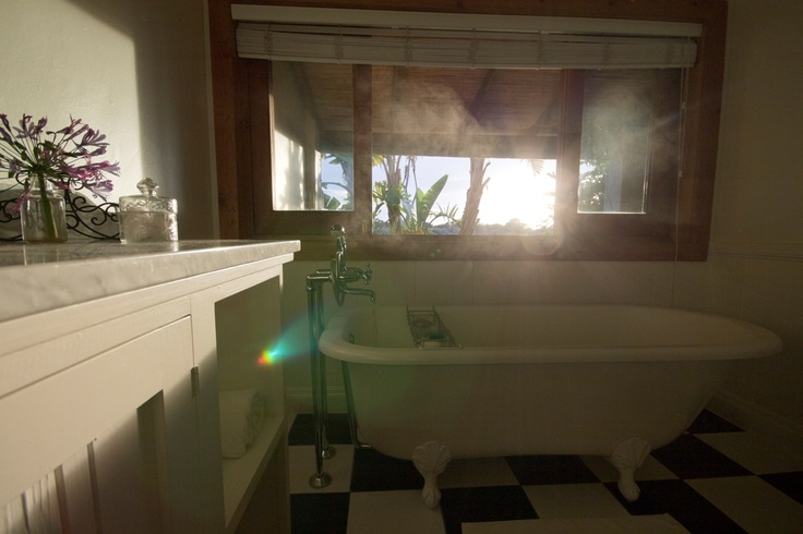Lovely hot bath overlooking the gardens at Dune Ridge Country House, St Francis Bay