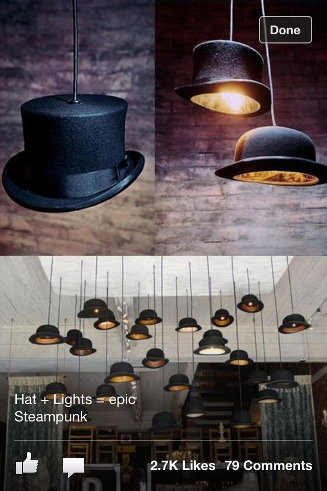 Hat lights - great for magic party theme!
