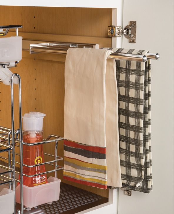 Towel Rack Pull-Out, 3 Bar, Extendable - in the Häfele America Shop
