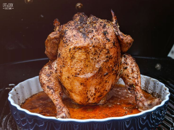 Grilované kuře na plechovce cideru