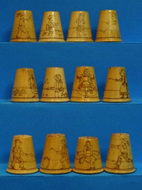 Coleccion completa Scotland Traditional Games. Child Plays. Heather Mclean. Thimble-Dedal-Fingerhut.