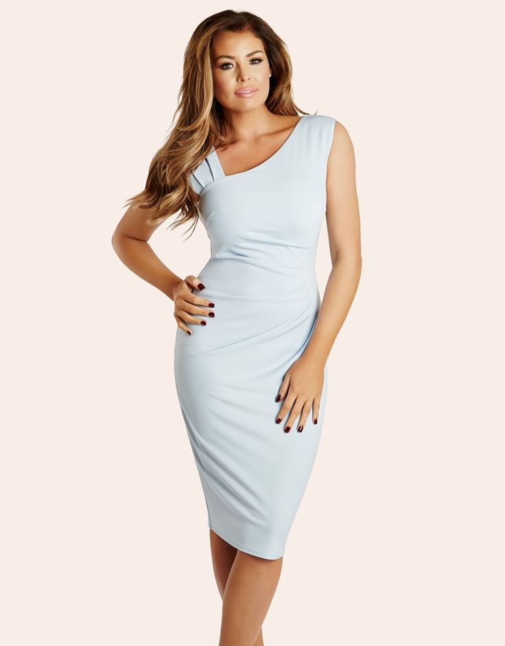 Jessica Wright Pleated Bodycon Dress