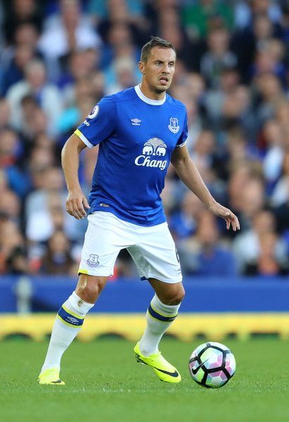 Phil Jagielka of Everton in action during the Premier League match between…