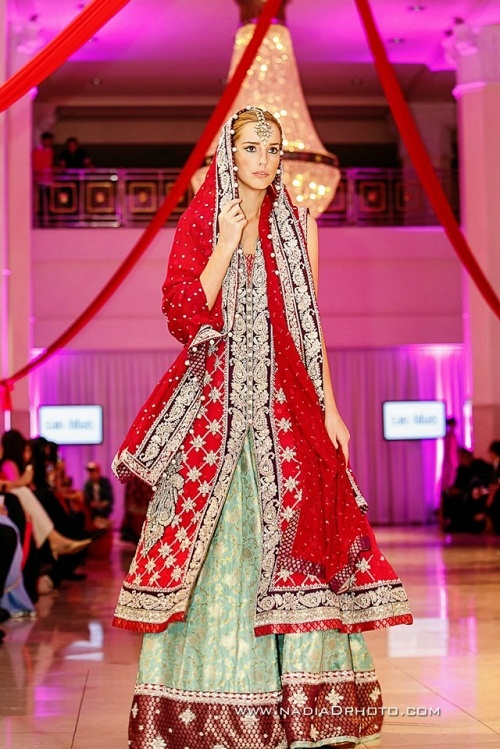 Sana Abbas for International Bridal Wedding Fashion and Jewelry Week 2013 Potential: if lengha was better