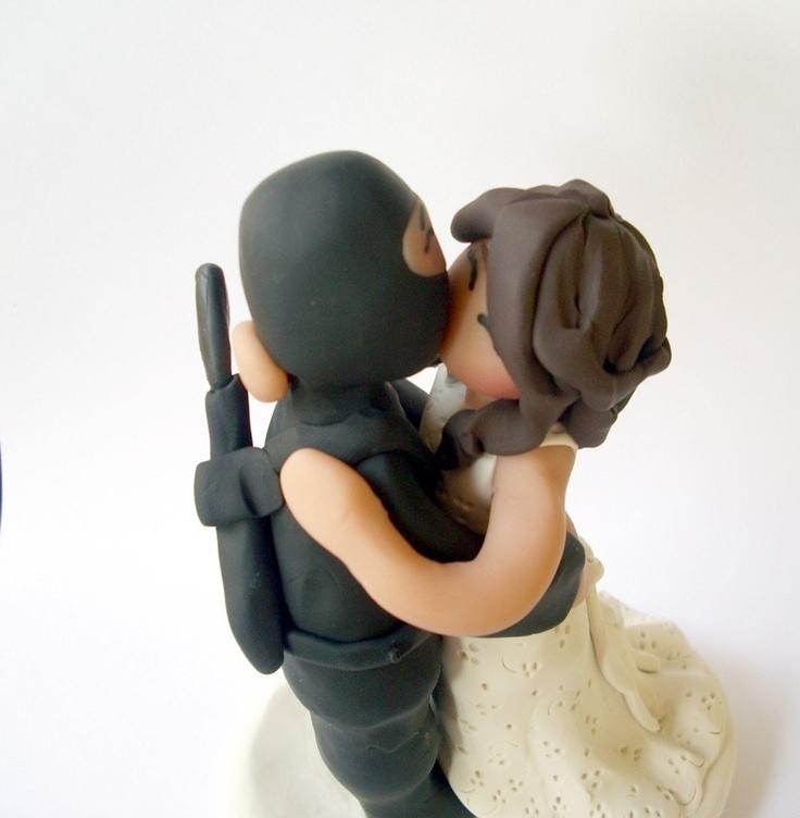 Ninja Kiss Custom Wedding Cake Topper 75 00 Via Etsy Why So Expensive Random Ideas Pinterest Toppers