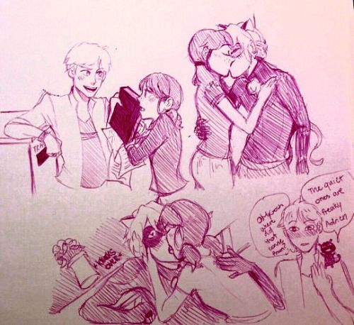 art and fart � more marichat i am the trash can adrien is