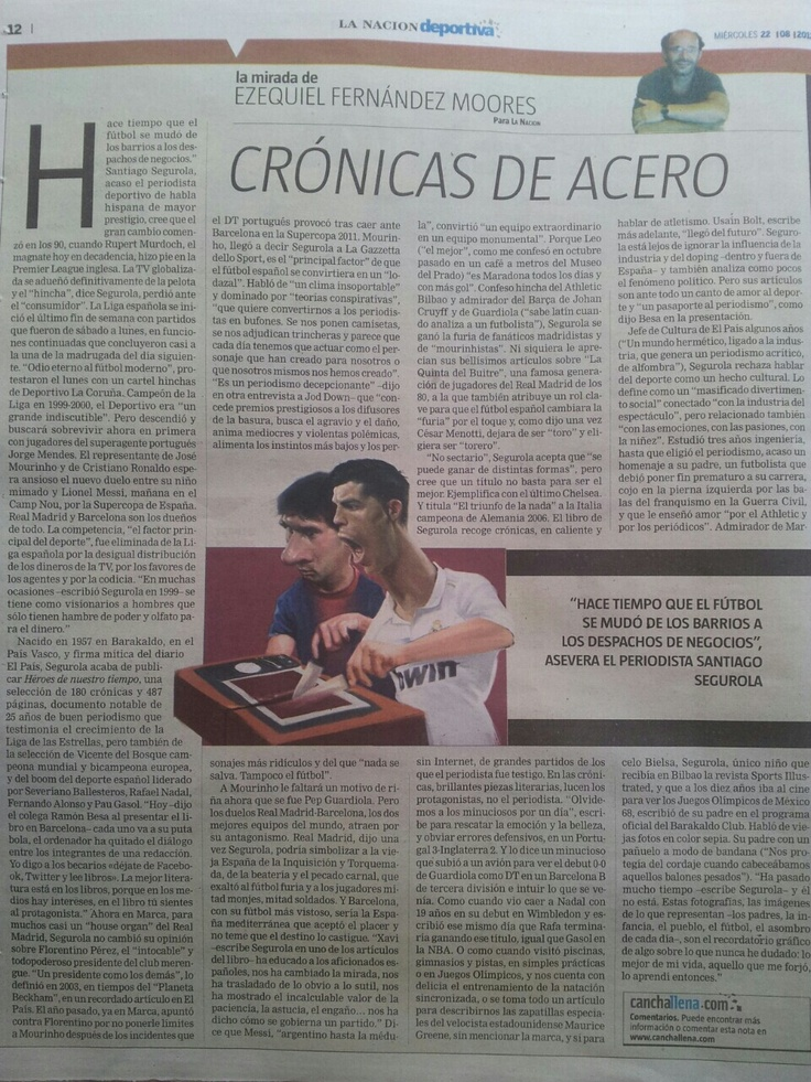 Fantástica nota de Ezequiel Fernández Moores en La Nación Deportiva del 22/08/12