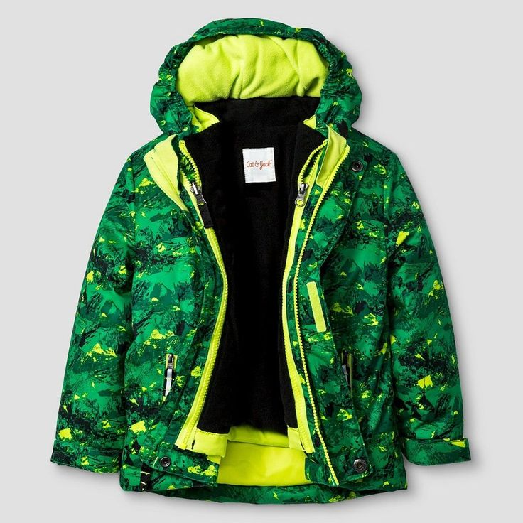 Toddler Boys' Printed 3-in-1 Jacket Cat & Jack - Green 3T, Toddler Boy's