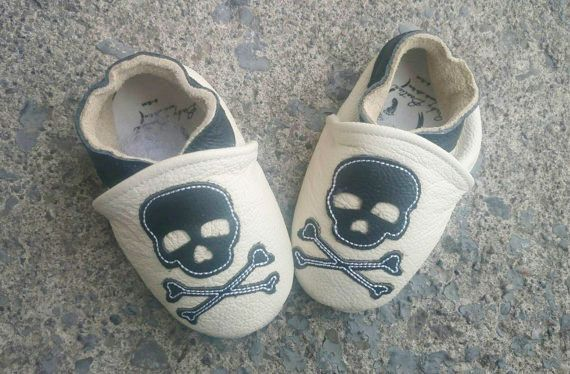 White leather baby skulls shoes!! Check it out!  https://www.etsy.com/ca/listing/261715720/baby-leather-shoes-skull-white-soft-sole