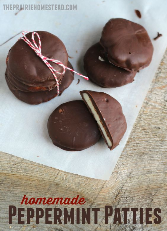 these homemade peppermint patties are crazy! They taste just like York, but are made from coconut oil and honey!
