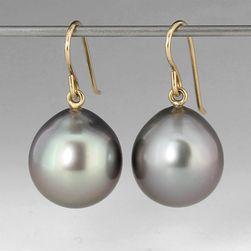 Tahitian Pearl Earrings,Maria Beaulieu