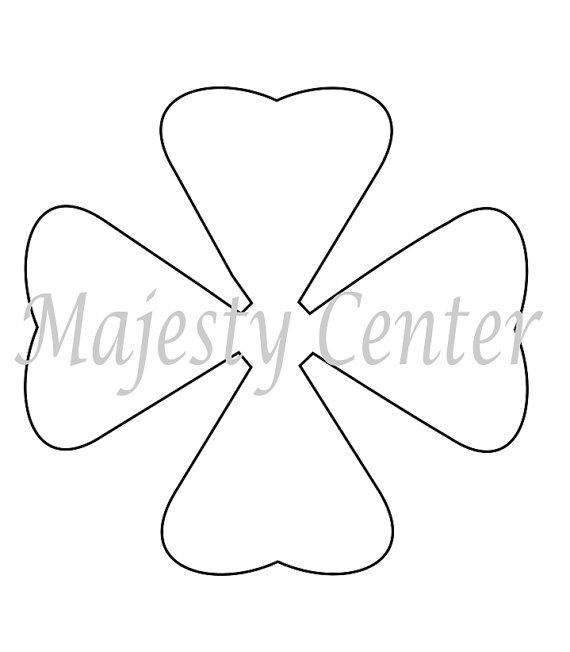 Extra Large Arielle Style And Leaf Paper Flower Printable Templates