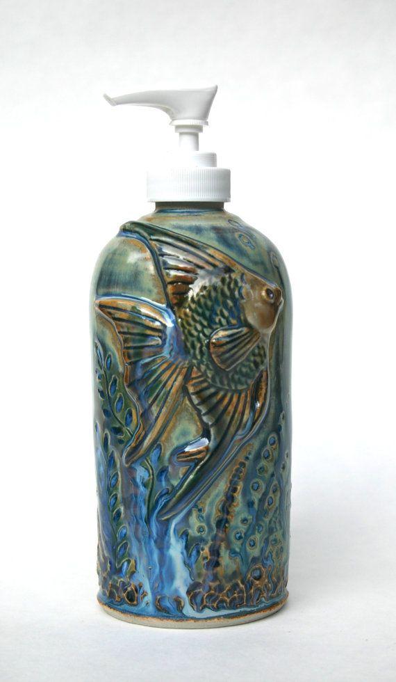 Angel Fish Lotion Soap Dispenser