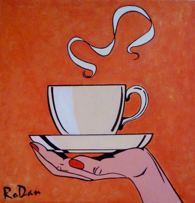 """""""Another Cup Of Coffee Before I Go"""" by Robyn Dansie. Paintings for Sale. Bluethumb - Online Art Gallery"""