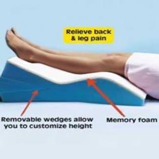 Hermell Soft White Leg Wedge Pillow Memory Foam Wedges