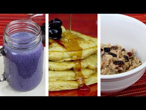 Ideas para Desayunos o meriendas saludables| comer sano es fácil - YouTube