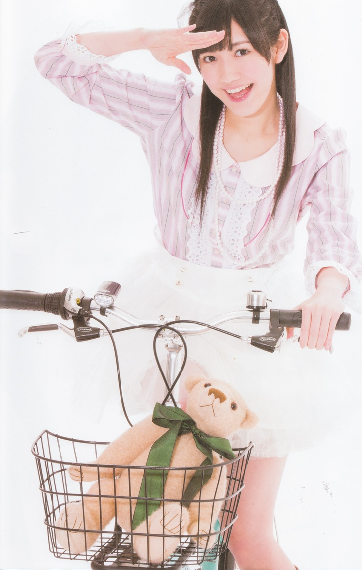 #Watanabe_Mayu, #Mayuyu, #渡辺麻友, riding bicycle, #idol, #AKB48, #pretty_girl