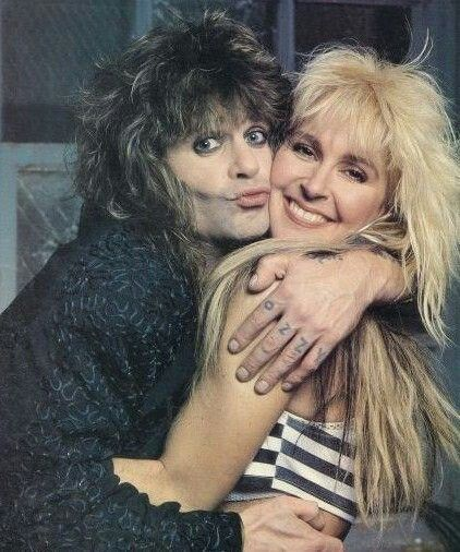 Ozzy Osbourne and Lita Ford