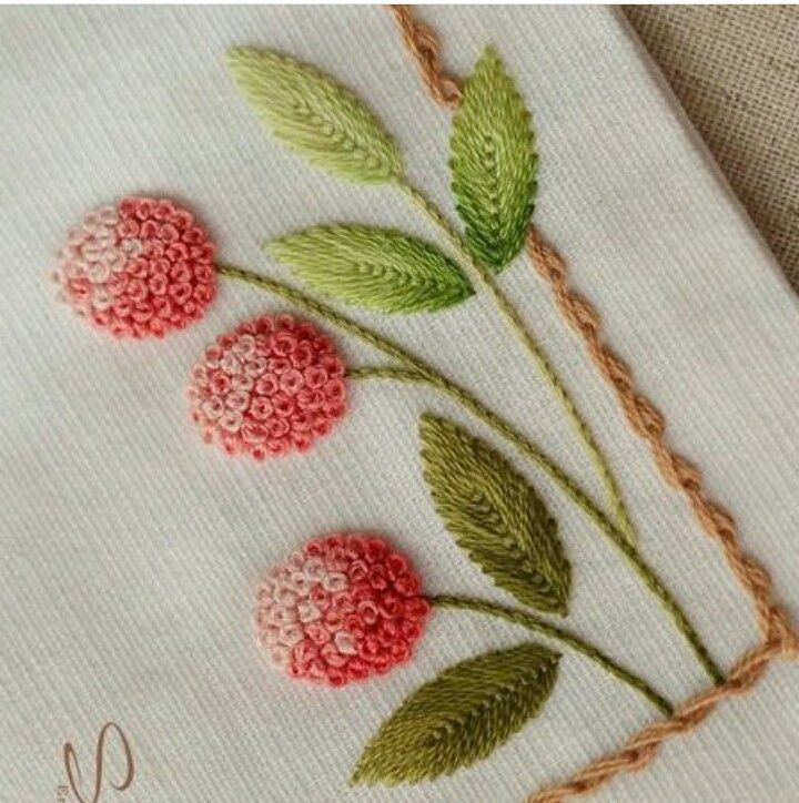 Love the texture of French knot embroidery ...
