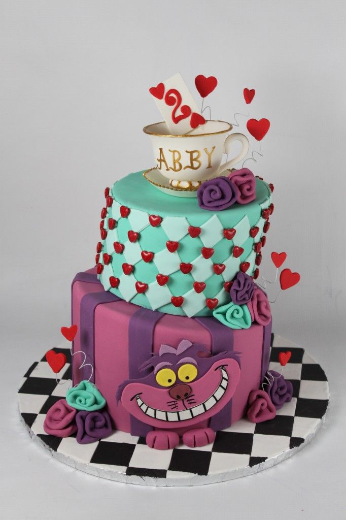 Topsy Turvy Alice in Wonderland Cake. I know it's a birthday cake but I had to show you guys.