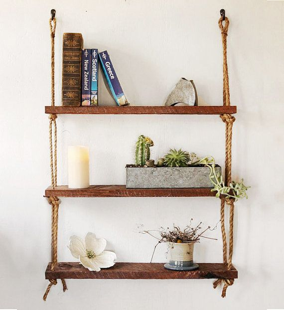 ... wood bookshelf reclaimed wood shelves suspended shelf unit wall