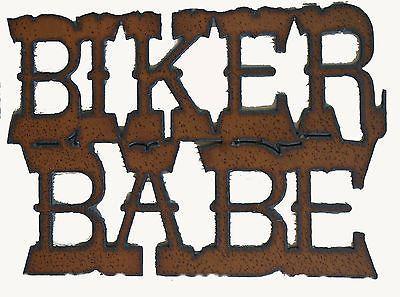 Biker Babe Sign Rustic Metal Sign Biker Motorcycle Decor                                                                                                                                                     More