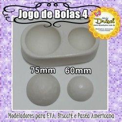 Jogo de bolas 4 (60mm e 75mm)