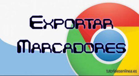 Cómo exportar marcadores de Google Chrome