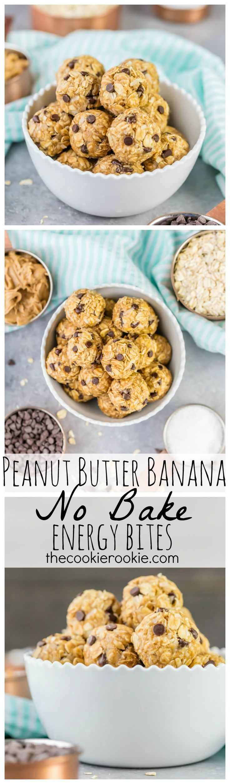 Peanut butter banana no bake energy bites are the perfect for Easy sweet treats with peanut butter
