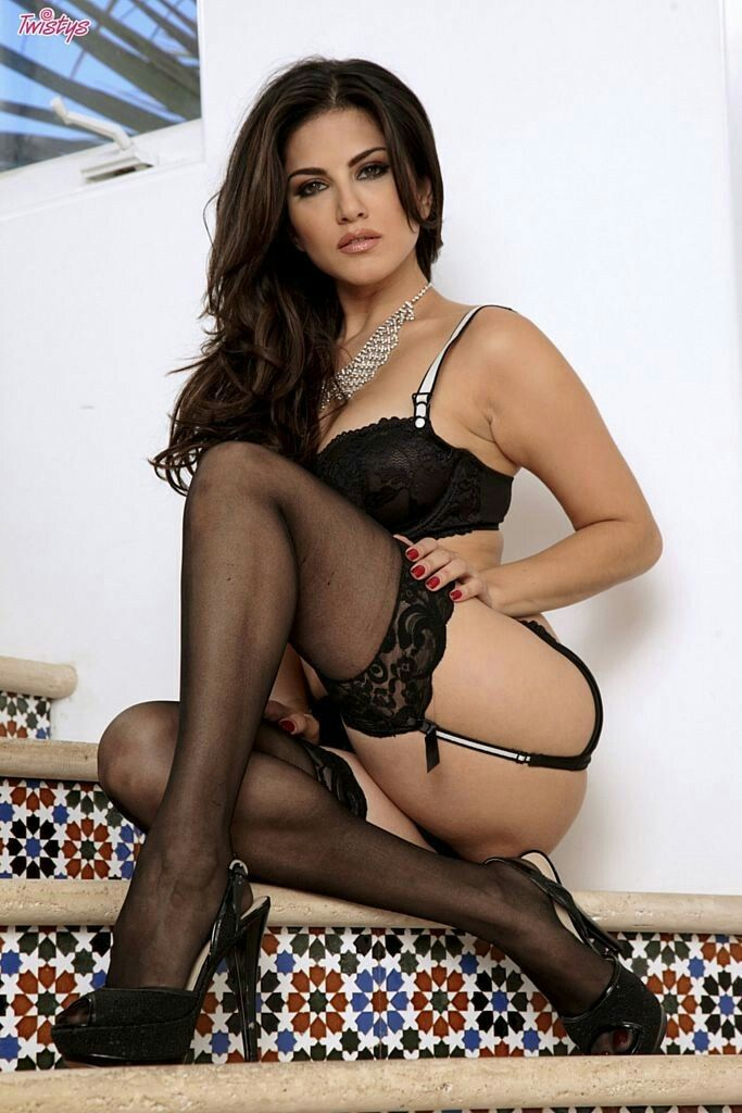 Sunny Leone Wearing Sexy Lingerie  Sunny Leone Hot Photoshoots  Sexy, Black Lingerie, Lingerie-5195