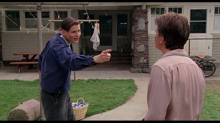 """""""Oh, uh, hey you, get your damn hands off her. Do you really think I ought to swear?"""" - George McFly, Back to the Future"""