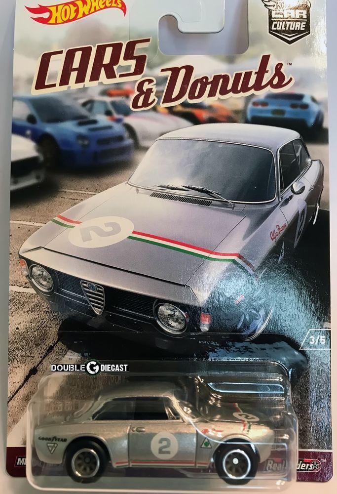 1 64 Hot Wheels Car Culture Cars Donuts Alfa Romeo Giulia Sprint Gta Hot Wheels Cars Mattel Hot Wheels Custom Hot Wheels