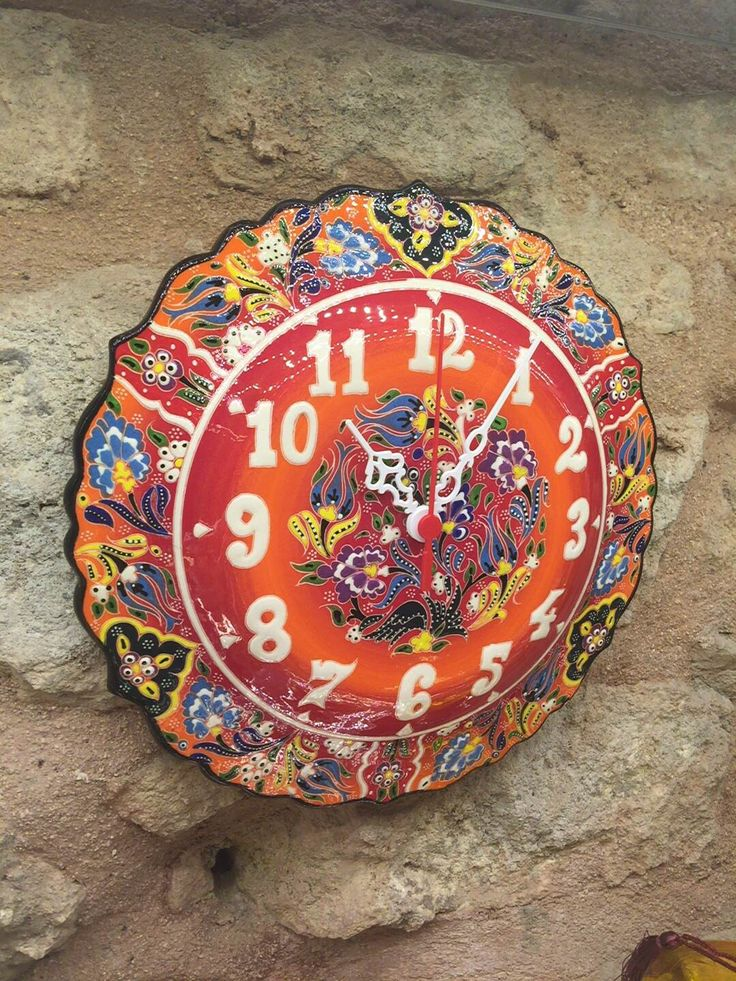 TURKISH CERAMIC WALL CLOCK, GIFTS UNDER 50$